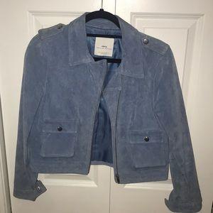 Light blue leather (suede) jacket